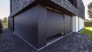 Alu Wall Linius Horizontale Bekleding Sectionale Poort